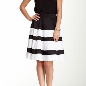 Amanda + Chelsea Black and White Circle Skirt
